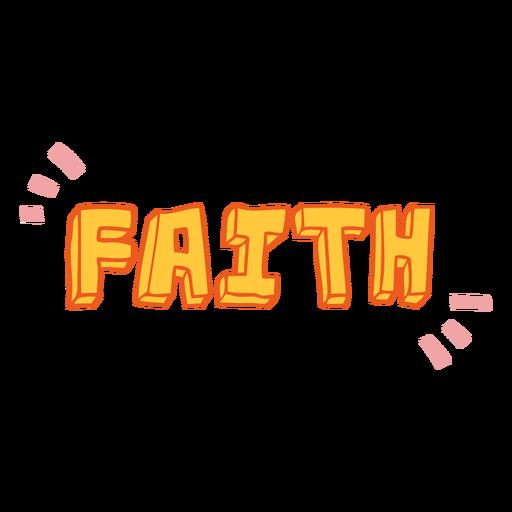Faith quote badge