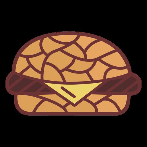Hamburger junk food polygonal