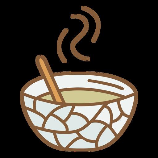 Warm soup food polygonal