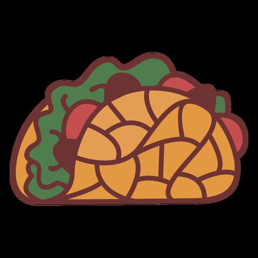Taco mexican food polygonal