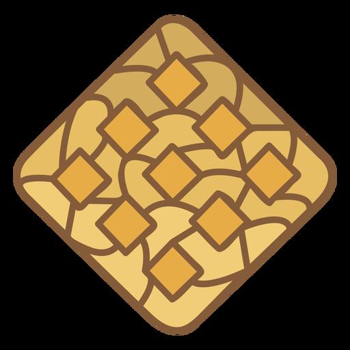 Waffle breakfast food polygonal