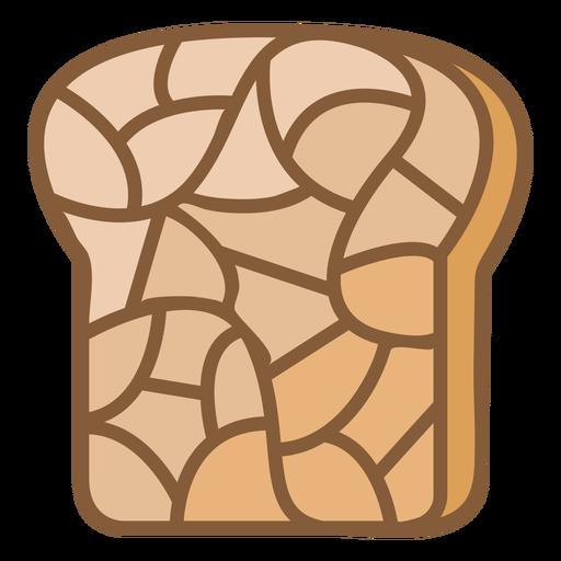 Bread toast food polygonal