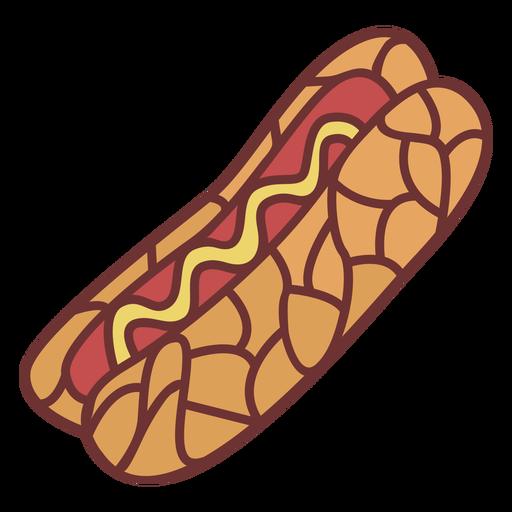Hot dog food polygonal