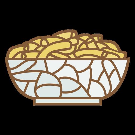 Bowl of fries food polygonal