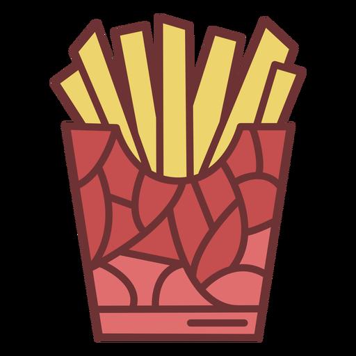 French fries fast food polygonal