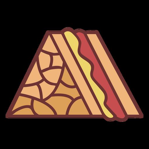 Sandwich food polygonal