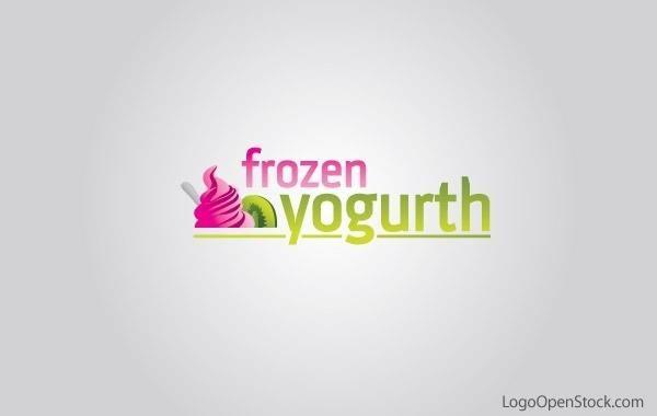 Design de logotipo de iogurte congelado