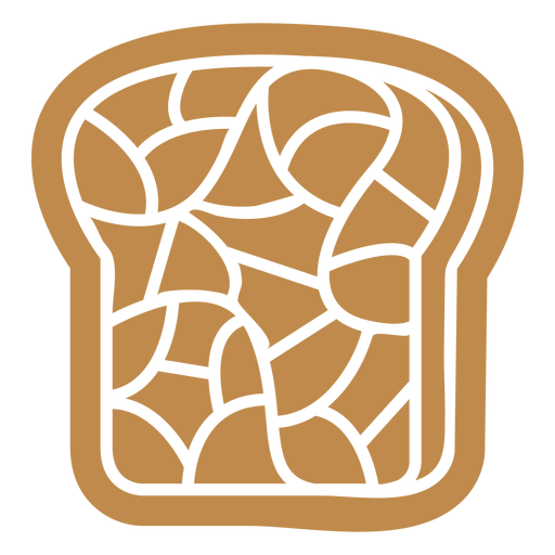 Bread toast breakfast food cut out