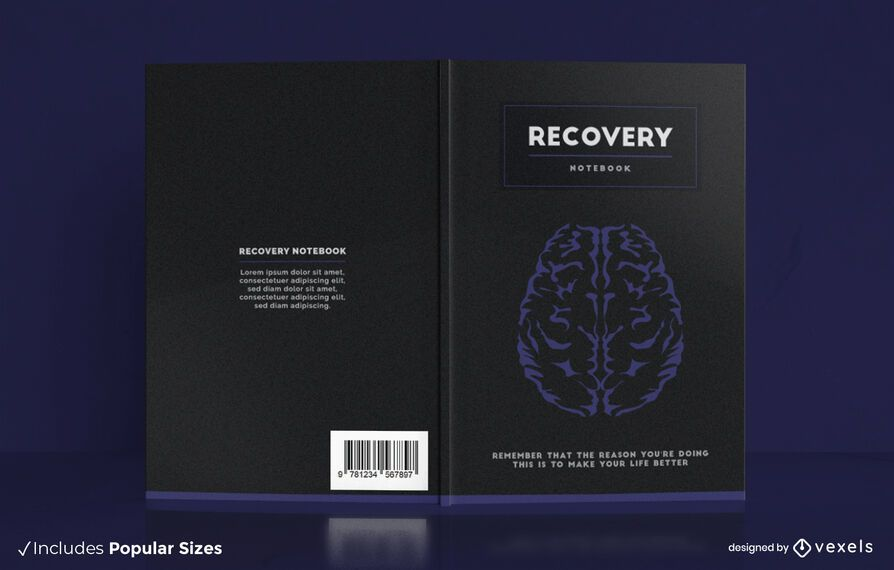 Recovery brain notebook cover design
