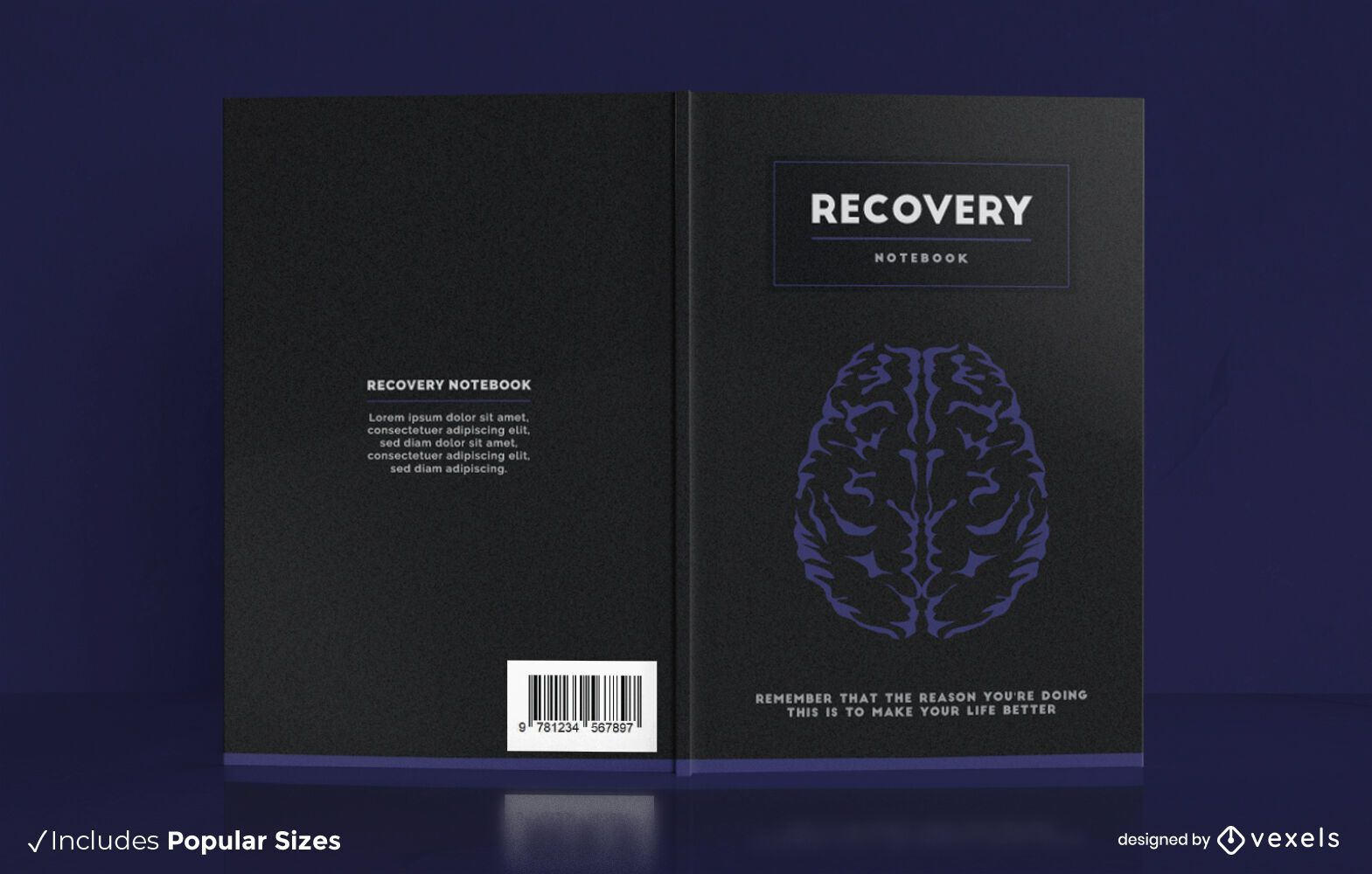 Design da capa do notebook Recovery Brain