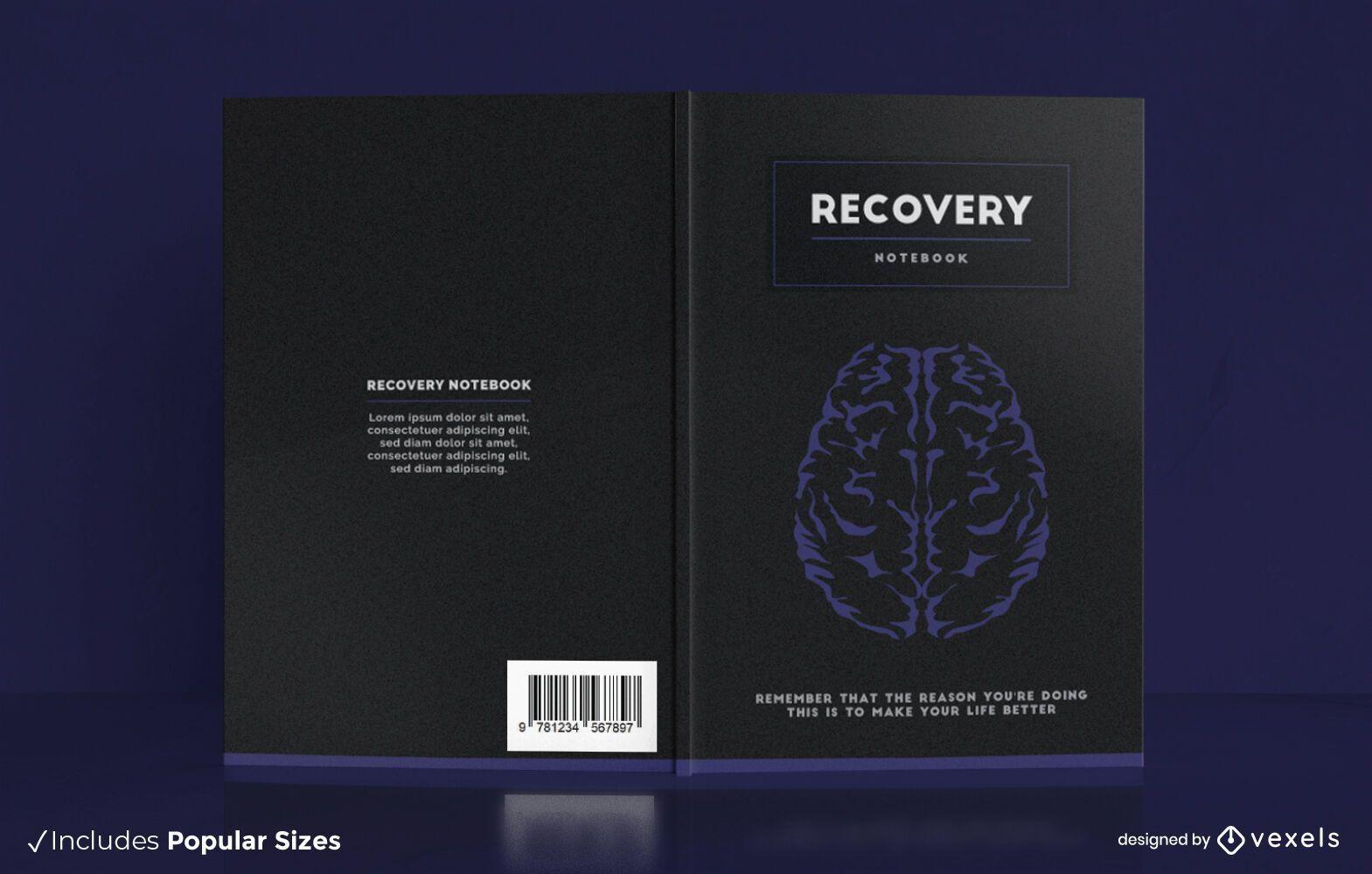 Diseño de portada de cuaderno de recuperación cerebral
