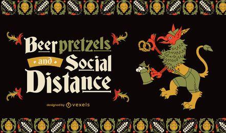 Ilustração de feriado de celebração da Oktoberfest