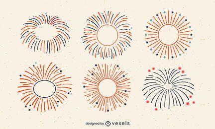 Vierter Juli Urlaub Feuerwerk Schlaganfall gesetzt