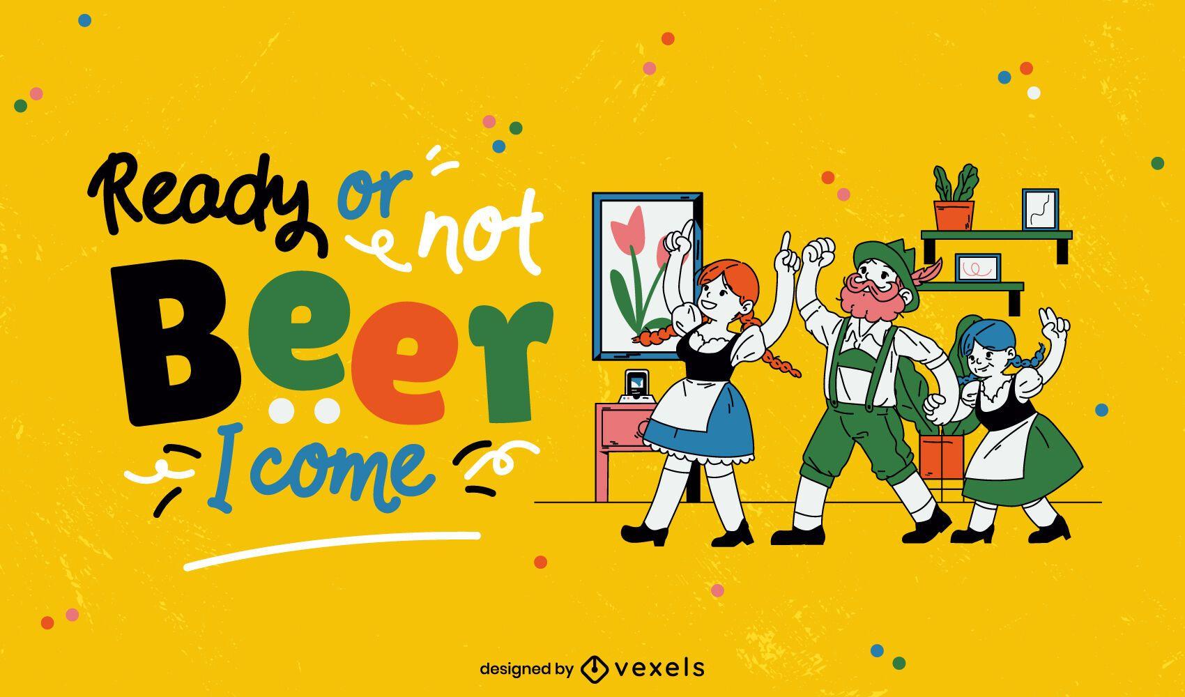 Ilustração da celebração da Oktoberfest