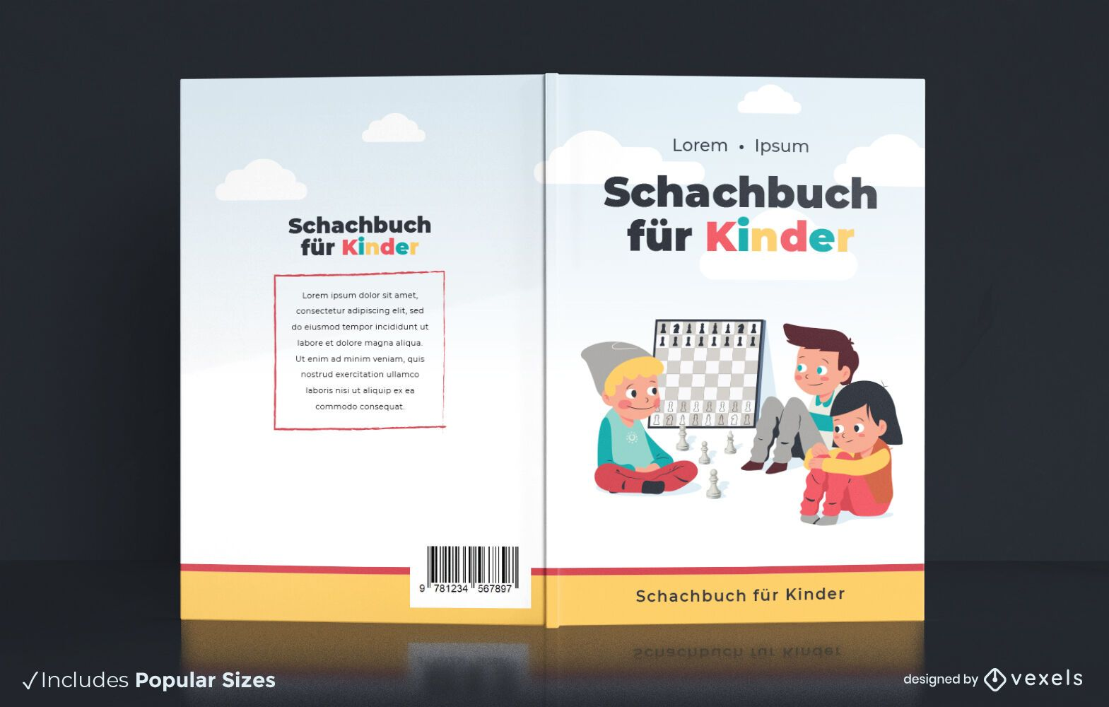 German chess for children book cover design