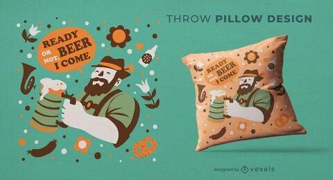 Oktoberfest celebration throw pillow design