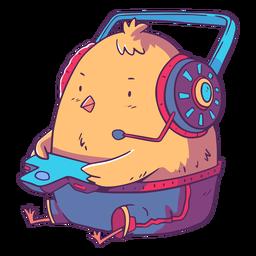 Chick animal gamer character