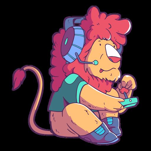 Lion animal gamer character