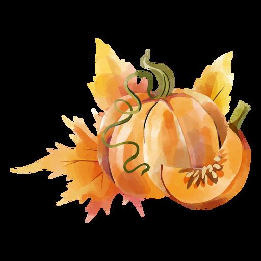 Fall pumpkin design watercolor