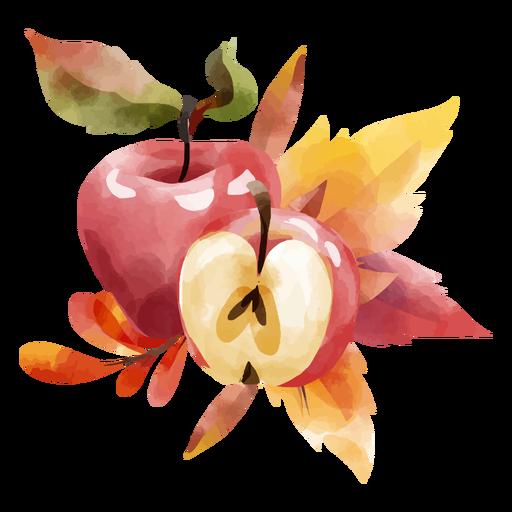 Red apple watercolor design
