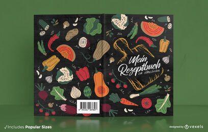 German cooking vegetables book cover design