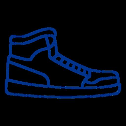 Sports shoe stroke