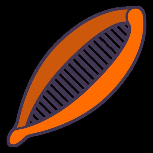 Orange hair accessory color stroke
