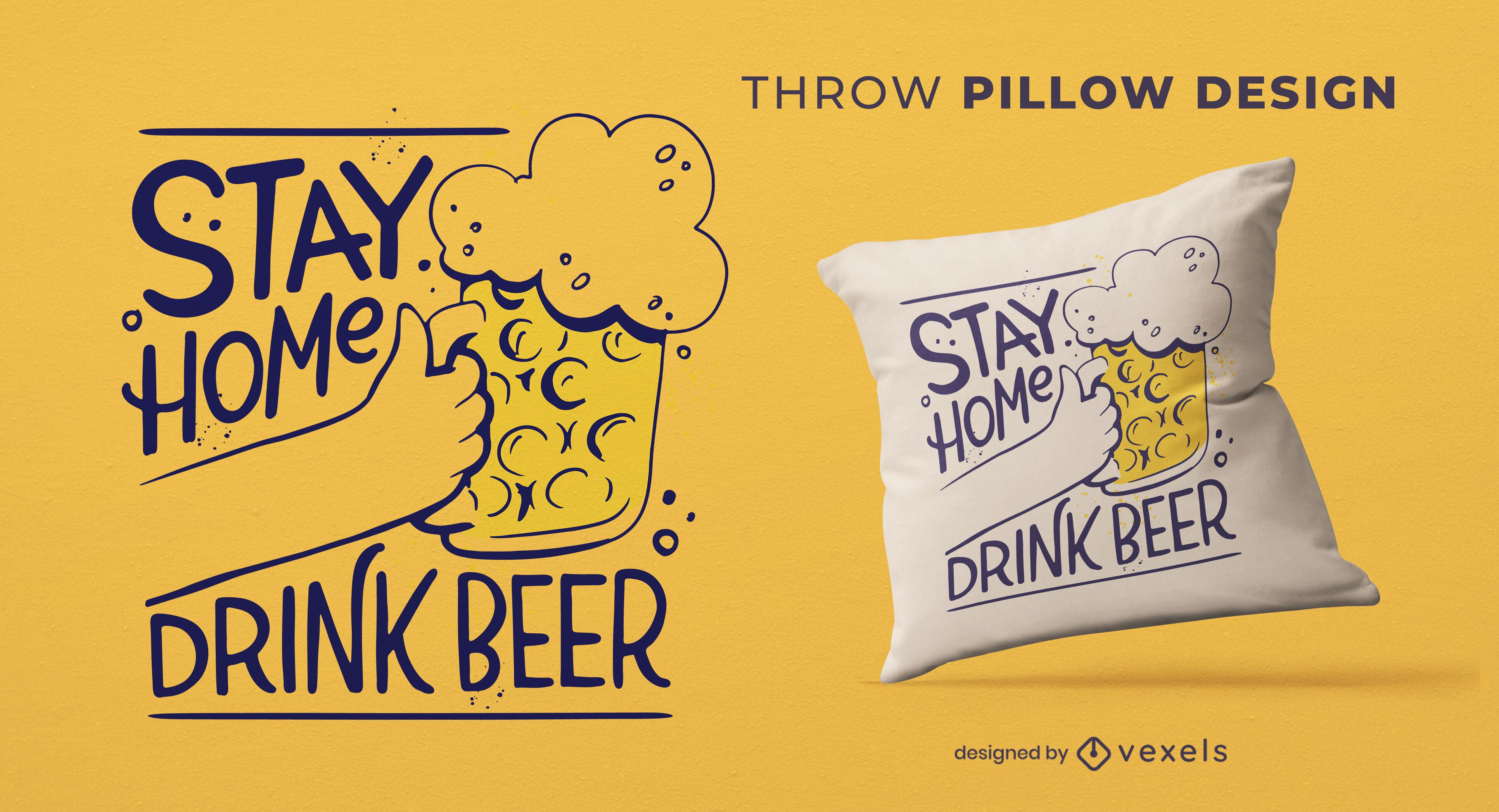 Oktoberfest isolated beer drink throw pillow