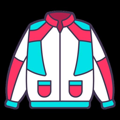 Vintage 80's style colorful jacket color stroke