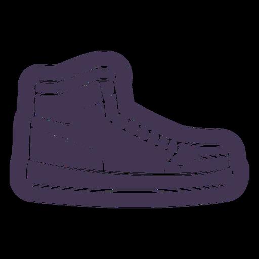 Tennis shoe cut out