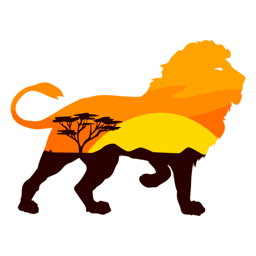 Savana lion semi flat