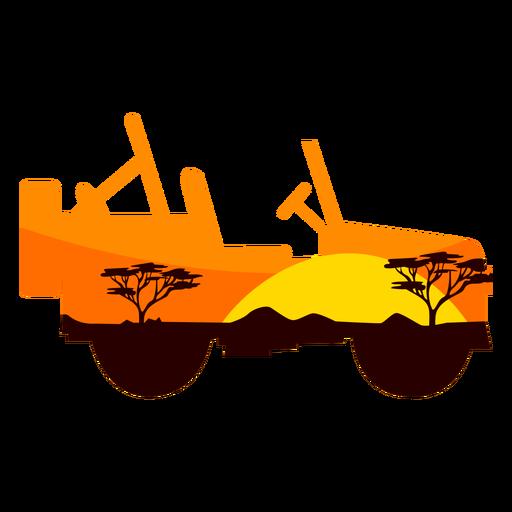 Safari car semi flat