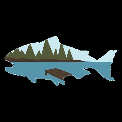 Lake fish flat