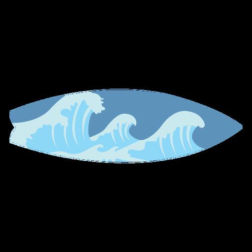 Ocean surf board semi flat