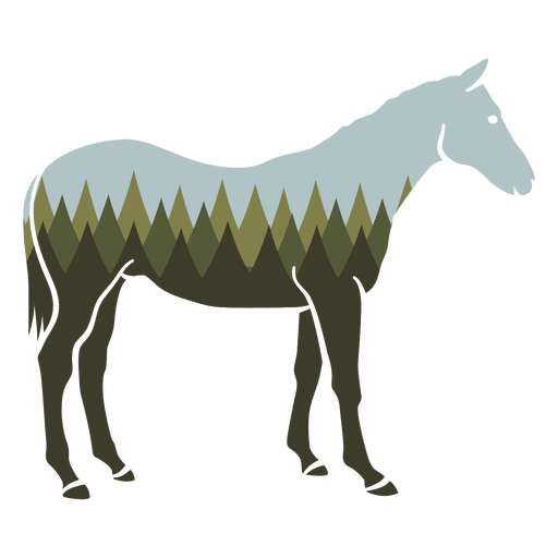 Forest horse cut out