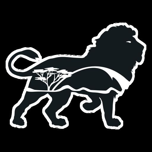 Savana lion cut out