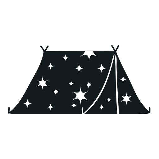 Starry tent cut out