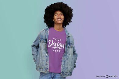 Model with sweatshirt gradient mockup