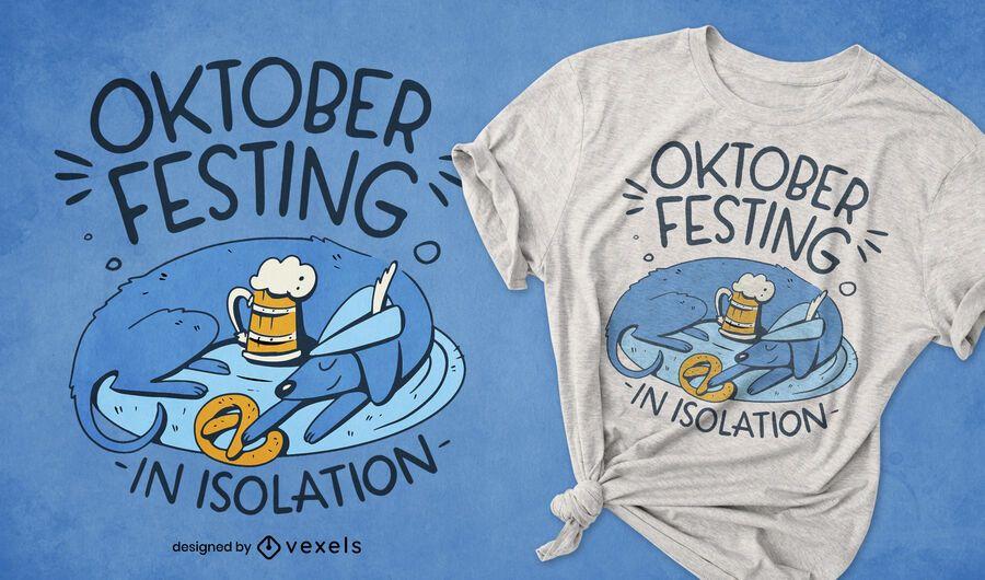 Oktoberfest isolation dog t-shirt design