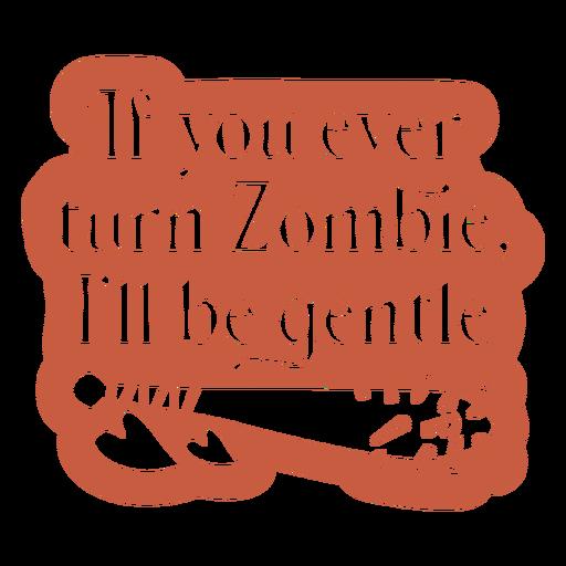 Cita divertida de amor zombie recortada