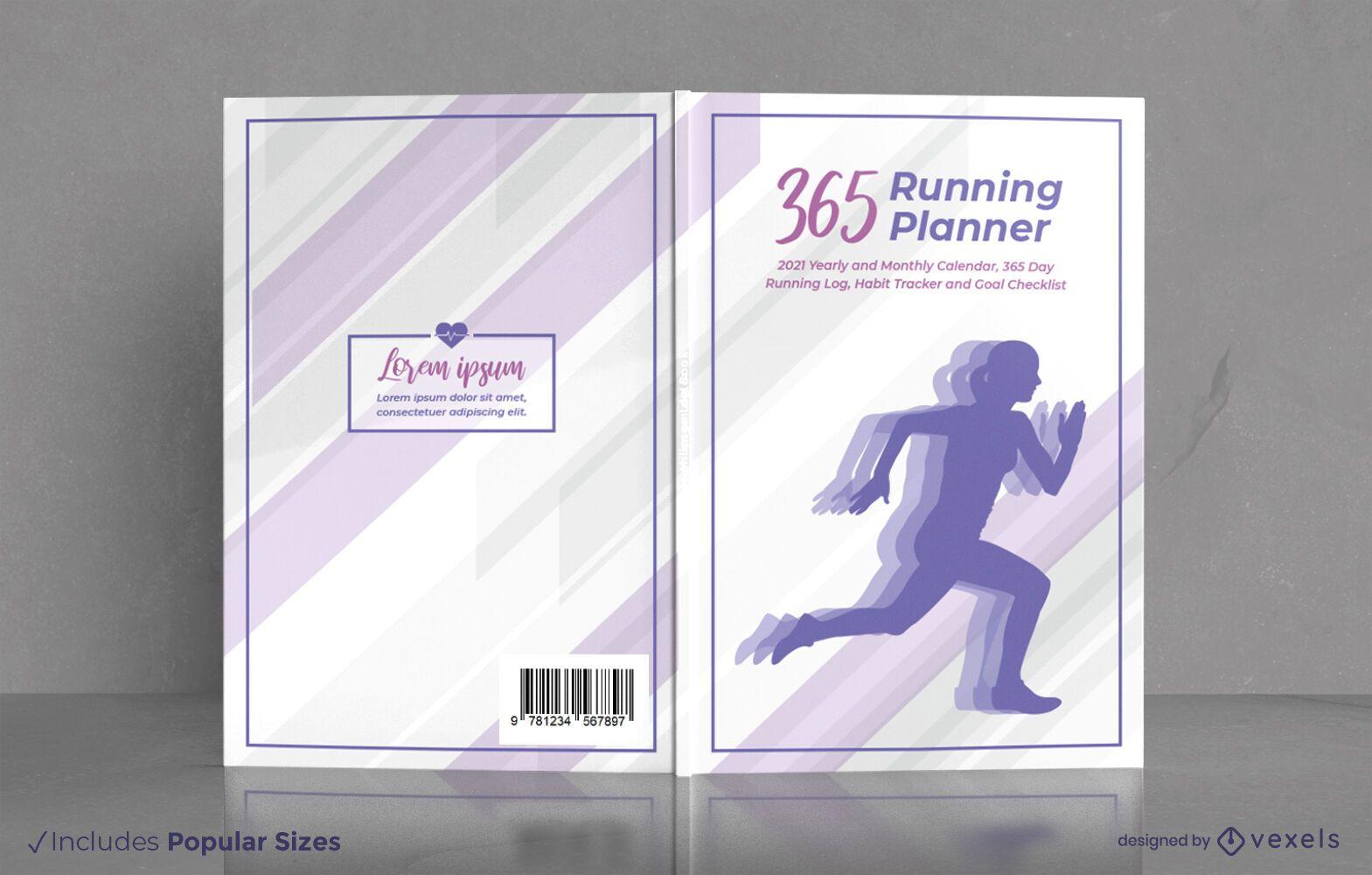Running planner exercise cover design