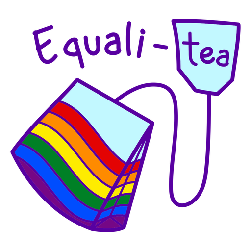 Funny equality pride quote color stroke