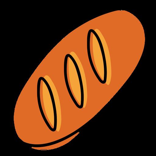 Baguette bread color stroke