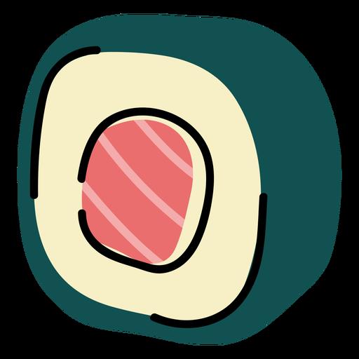 Sushi roll color stroke