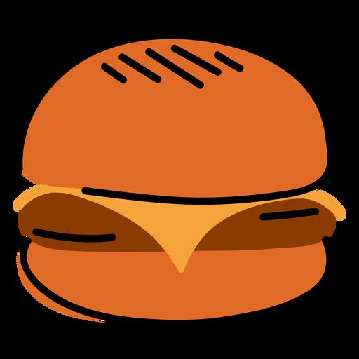 Delicious burger color stroke