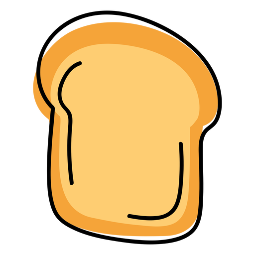 Bread toast color stroke