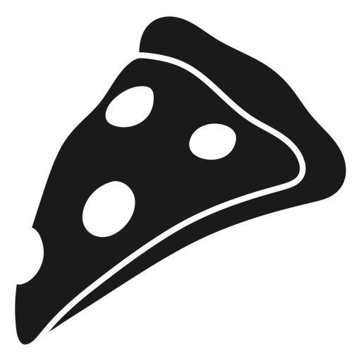 Yummy pizza cut out