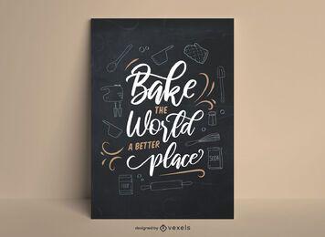 Tafelbeschriftungs-Backplakat