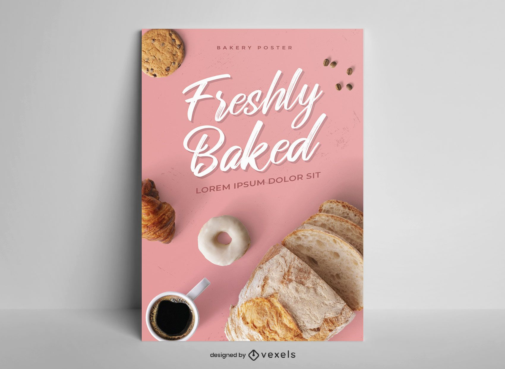 Simple photographic baking poster