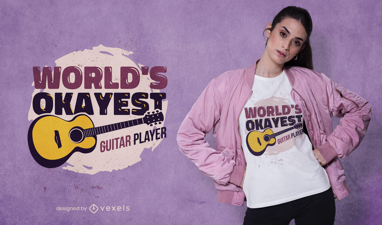 Design de camiseta para guitarrista mais legal do mundo